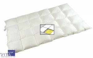 Bettdecke 220x240 - VitaSchlaf® DAUNE DE LUXE-90% –Sibirische Land-Daunendecke–grosse Größen-Wärmestufe 4-medium